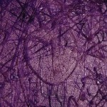 Untitled (purple glue), 2005 detail : Oils and glue on canvas, 1060 x 840mm