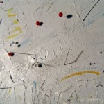 Untitled, (my dad is...), 2005 detail : Oils, mixed media and electronic components on canvas, 900 x 1650mm