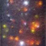 Untitled, (resin), 2005 : Oils, mixed media and electronic components on canvas, 940 x 720mm - SOLD